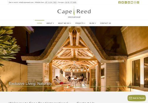 لقطة شاشة لموقع Cape Reed International بتاريخ 05/05/2021 بواسطة دليل مواقع كريم جمال