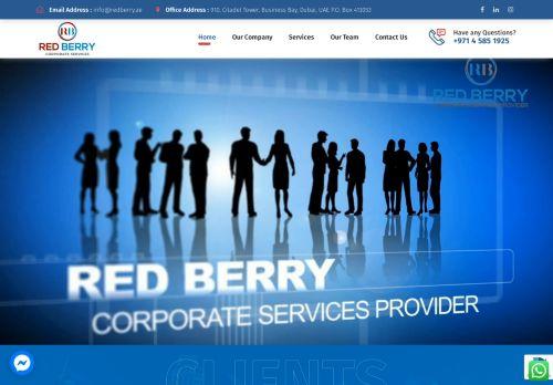 لقطة شاشة لموقع Red Berry Corporate Services بتاريخ 28/07/2021 بواسطة دليل مواقع كريم جمال