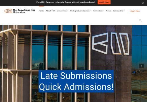 لقطة شاشة لموقع The Knowledge Hub Universities بتاريخ 09/09/2021 بواسطة دليل مواقع كريم جمال