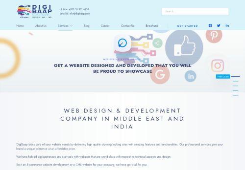 لقطة شاشة لموقع Web Development Company Dubai and Web Design Dubai-Digibaap بتاريخ 16/09/2021 بواسطة دليل مواقع كريم جمال
