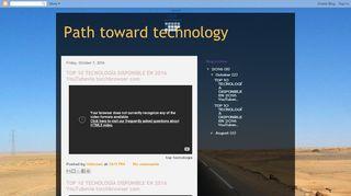 لقطة شاشة لموقع Path toward technology بتاريخ 21/09/2019 بواسطة دليل مواقع كريم جمال