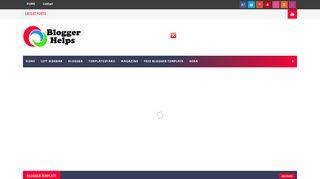 لقطة شاشة لموقع Blogger Helps بتاريخ 03/12/2019 بواسطة دليل مواقع كريم جمال