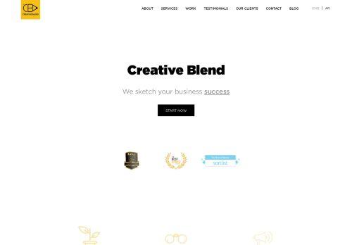 لقطة شاشة لموقع creative blend بتاريخ 15/11/2020 بواسطة دليل مواقع كريم جمال