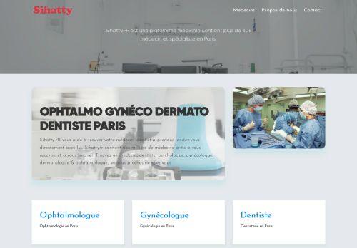 لقطة شاشة لموقع أطباء فرنسا بتاريخ 19/01/2021 بواسطة دليل مواقع كريم جمال
